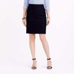 J. CREW FACTORY BLACK THE PENCIL SKIRT SIZE 4